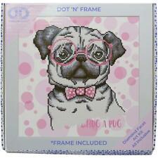 Diamond Dotz Diamond Embroidery Facet Art Kit W/ Frame  Hug A Pug