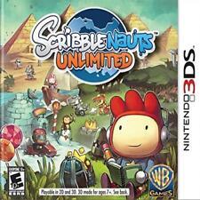 Scribblenauts Unlimited Nintendo 3Ds Free Kids Game Creative Warner Home Video