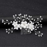 1Pc Bridal Rhinestone Flower Hair Comb Wedding Hair Accessories Hair Jewe JE
