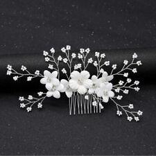 1pc Bridal Rhinestone Flower Hair Comb Wedding Hair Accessories Hair Jewel%PSPNM