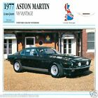 ASTON MARTIN V8 VANTAGE 1977 à nos jours CAR GREAT BRITAIN CARTE CARD FICHE