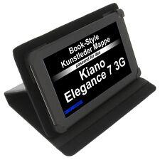 Tasche für Kiano Elegance 7 3G Book-Style Tablet Schutz Hülle Case Stand Schwarz