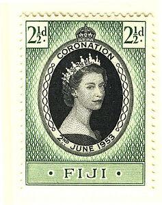 FIJI 1953 CORONATION  MNH