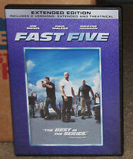 Fast Five DVD Rated/Unrated Paul Walker