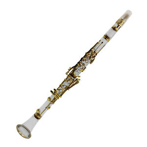 Eastern music acrylic clear ABS body B flat clarinet gold plated keys with case
