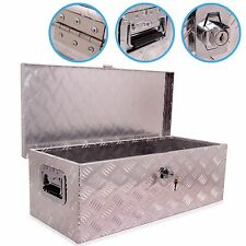 2.5ft 76cm ALLOY CHEQUER PLATE TRUCK VAN TRAILER STORAGE TOOL CHEST VAULT BOX
