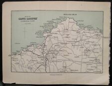 Irish Map GIANTS CAUSEWAY Bushmills Northern Ireland Black Bartholomew 1900 5x7