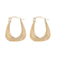 9ct Gold Plain Hoop Creole Earrings