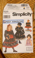 """Simplicity Daisy Kingdom Sewing Pattern 0646 size BB Girls Dress 18"""" Doll Outfit"""