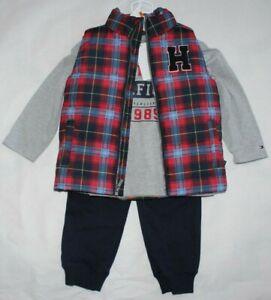 Boys Tommy Hilfiger Vest Coat Shirt Pants 3pc Outfit Set 3T 4T NWT $89.50
