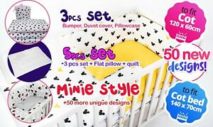 Minnie Style - BABY BOY-GIRL NURSERY BEDDING SET-BUMPER-PILLOW-QUILT COVERS