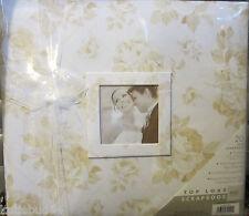 Beige Taupe White Floral Memory Scrapbook 12x12  ALBUM  Photo Frame Bride Shower