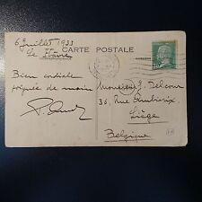 Pasteur Nr.174 Brief Karte cover cad le havre Seine wohlhabende für liège