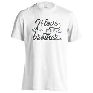 I Love My Little Brother Men's T-Shirt k731m