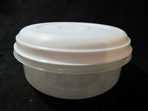 Rubbermaid Servin Saver ALMOND lid sheer Containers Round  #3 / 1.4 QT