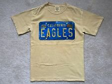 Eagles 2013 Double Sided Tour T-Shirt California License Plate Mens Small Yellow