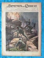 La Domenica del Corriere 25 luglio 1915 WW1 Italia vs Austria - G. D'Annunzio