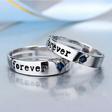 Love Forever Men Women Couple Promise Ring Set Wedding Band Valentine Gift