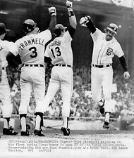 1984 TIGER WORLD SERIES KIRK GIBSON HOMERS TO SPARK THE TIGERS 8X10 photo