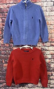 2 - Polo Ralph Lauren Cardigan & Pullover Sweaters Size 4 Boys