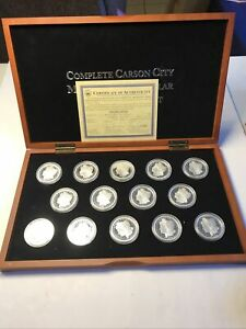 Complete Carson City Morgan Silver Dollar 14 Pieces