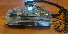 Vintage Lenoxx Sound Model HAC PH-1400 Clear Transparent Tech Telephone