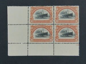 Nystamps US Stamp # 299 Mint OG NH Block of 4 $1300 as singles f21xu