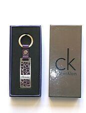 Portachiavi Calvin Klein a Ciondolo metallo Pelle vari colori vinaccia