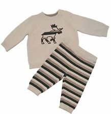 Gymboree Forest Sprouts 12-18 mo Moose Sweater Set Tan Green Fall