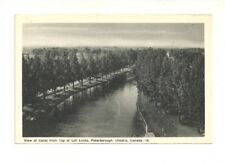 VIEW OF CANAL FROM TOP OF LIFT LOCKS, PETERBOROUGH, ONTARIO VINTAGE POSTCARD