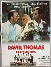 Affiche DAVID, THOMAS ET LES AUTRES Laszlo Szabo TRINTIGNANT Rochefort 40x60cm *
