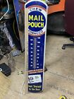 Vintage Chew Mail Pouch Tobacco Thermometer