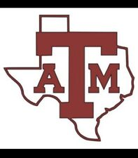3.5� Texas A&M Decals For Yeti Style Cups (set Of 2)