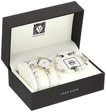 Anne Klein Womens Watch & Bracelet Set AK/2766HLTE $135 - NWT