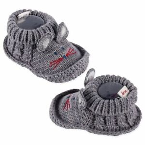 Gray Knitted Baby Booties   Cute Mouse   ED Ellen DeGeneres   0-6 Months   Shoe
