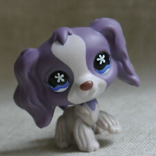 """LPS #672 COLLECTION Action Figure Purple Cocker DOG TOY 3"""" LITTLEST PET SHOP"""