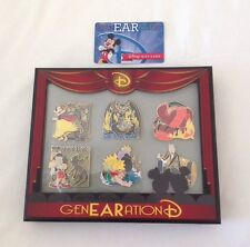 """DISNEY 2015 genEARation D PIN EVENT """"SCARIEST MOMENTS"""" BOXED SET LE 300 - NEW"""