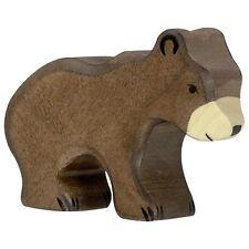 Braunbär klein 7 cm Holzfiguren Serie Wildtiere Holztiger 80185