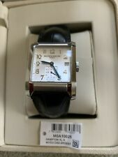 Baume and Mercier Hampton MOA10026  Automatic Power Reserve Leather Band Watch