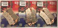 Honda VFR800 (1998 to 2005) EBC Sintered FRONT and REAR Disc Brake Pads (3 Sets)
