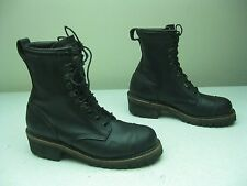 Vtg WEINBRENNER Thorogood Black Wildland Fire LOGGER BOOTS Mens 10.5 hiking Used