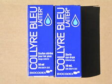 2 PACK  COLLYRE  sent from CA.USA ORIGINAL LAITER COLLYRE BLEU eye drops 05/19