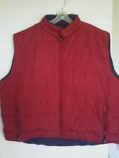 Guide Series Quilted Down Puffer Vest Reversible Red to Navy Zip Up  Mens Sz 3XL