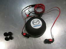 Mazda genuine accessory flat cable ear buds head phones