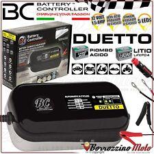 BC DUETTO MANTENITORE/CARICA BATTERIE 12V PIOMBO/LITIO PO4 AUTO MOTO FINO 100Ah