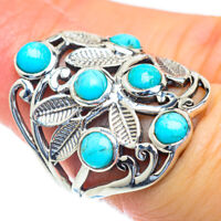Tibetan Turquoise 925 Sterling Silver Ring Size 6.5 Ana Co Jewelry R52772F