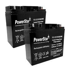 PowerStar 2PACK - 12V 22Ah UPS Battery(s) Replaces 20Ah Kung Long WP20-12