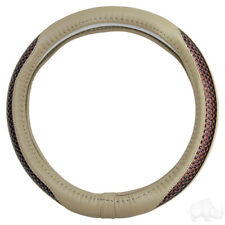 Golf Cart Steering Wheel Cover Tan, Super Fiber Synthetic Leather (ACC-SW142)