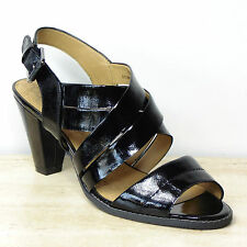 Patent Leather Wide (E) Slim Heel Shoes for Women