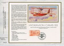 FEUILLET CEF / DOCUMENT PHILATELIQUE / HYDRAVION CAMS 53 MARSEILLE 1985